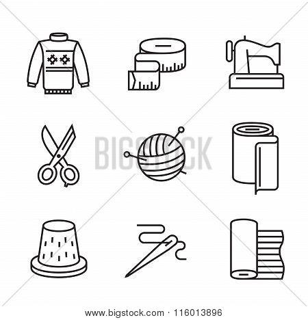 black flat sewing and needlework