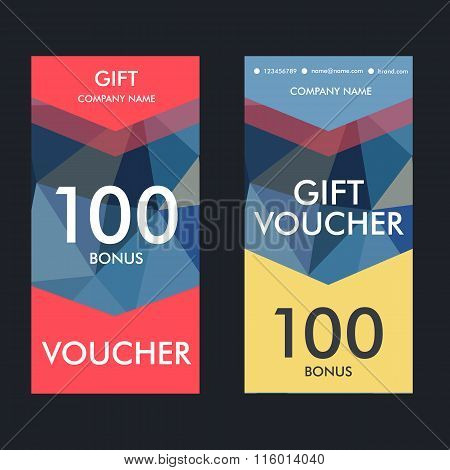 Two simple vector template modern gift certificates