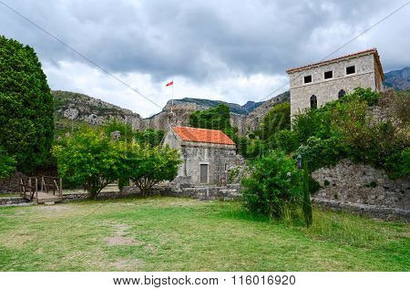 Church Of St. Jovan And The Palace, Old Bar, Montenegro