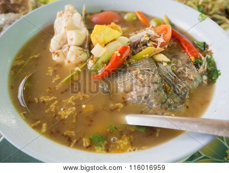 Fish Tom Yum With Ant