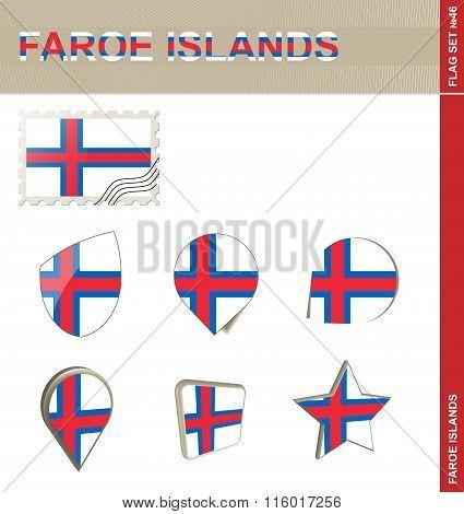 Faroe Islands Flag Set, Flag Set #46