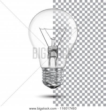 Realistic Bulb. Vector Illustration