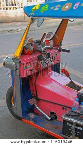 front part of tuk-tuk, Bangkok, Thailand