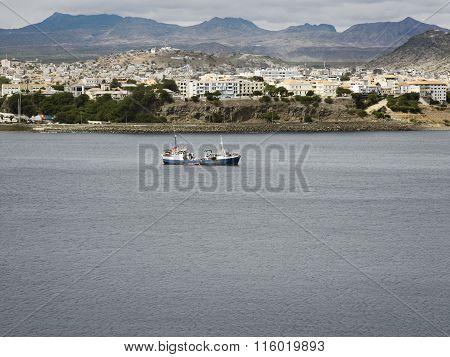 View Over Fishing Port And City, San Vincente, Mindelo, Cape Verde Islands