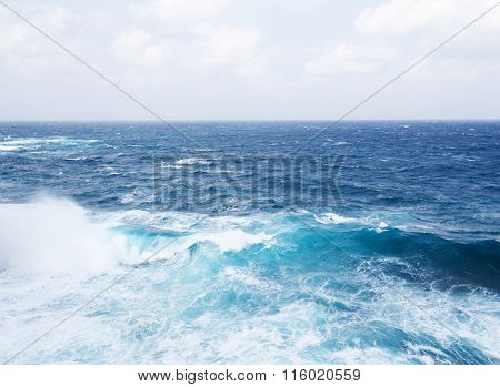 Sea and wave
