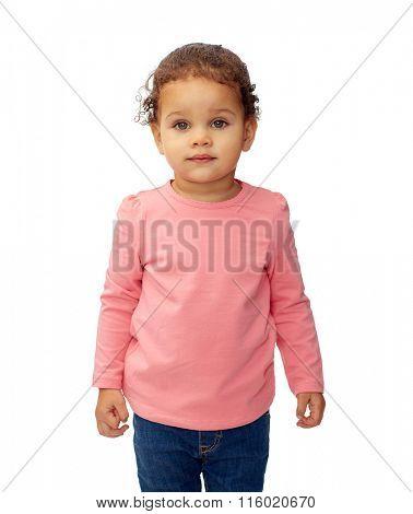 beautiful little baby girl portrait