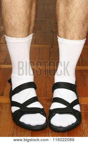 Men's Feet In Sandals