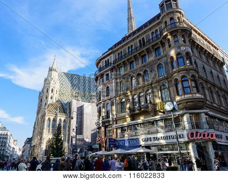 VIENNA, AUSTRIA - NOVEMBER 2015: Stephansdom, St. Stephen's Cathedral
