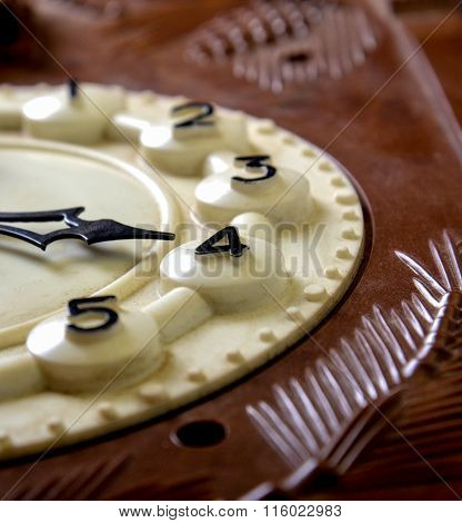 Picture Of A Vintage Wall Clock