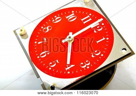 Vintage red table clock