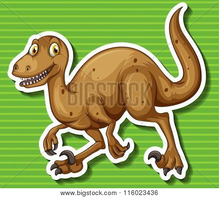 Brown dinosaur with sharp claws illustration