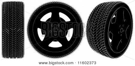 Car Wheel Tire Vector 03.eps