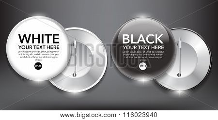 Black and white vector badges set of 2.