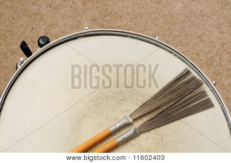 Snare Drum With Brushes