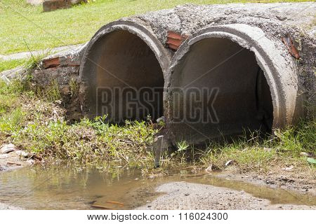 Main sewer pipes