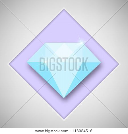 Abstract creative concept vector icon of diamond. For web and mobile content isolated on background,