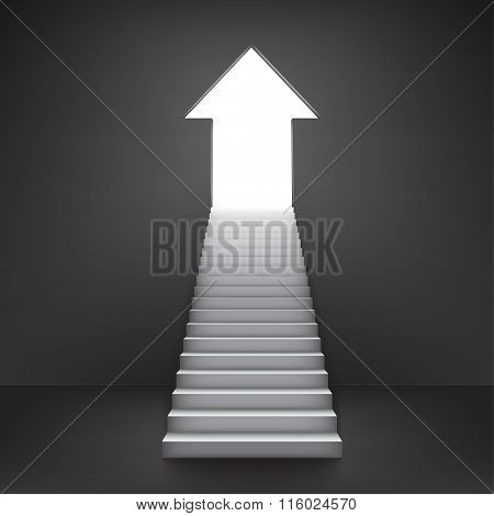 Arrow Shaped Door, Symbolizing Improvement Or Success