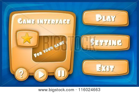 Abstract Creative concept vector Interface game design, resource bar and resource icons for games. F