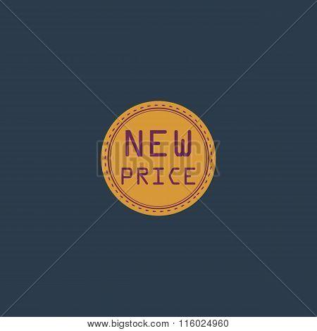 New Price Icon, Badge, Label or Sticker