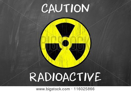 Caution Radioactive Symbol.