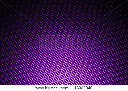 Spotlight On Purple Carbon Fiber Background.
