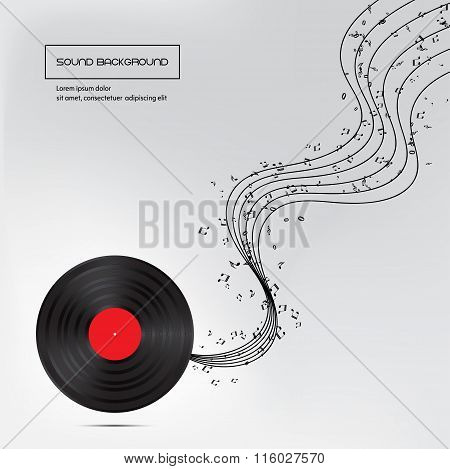 Music Background With Plate