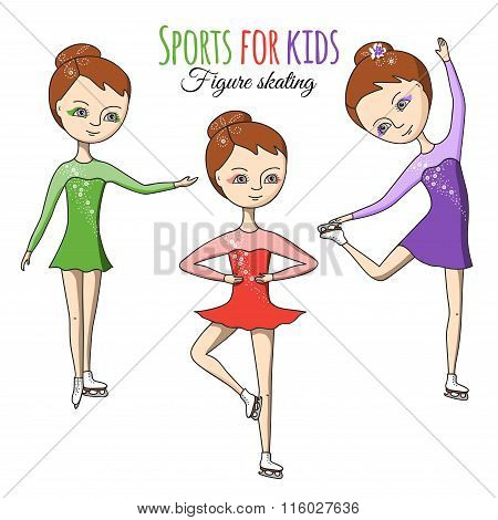 Sports for kids. Figure skating.