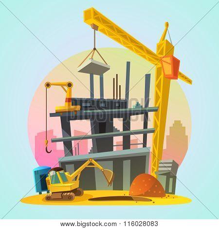 House construction cartoon