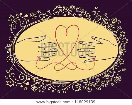 Valentine's Day or Wedding greeting card