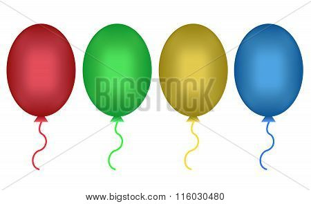 Set of party balloons