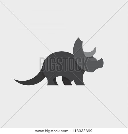 Dinosaur Triceratops Animals Design Illustration Graphics and Flat style art