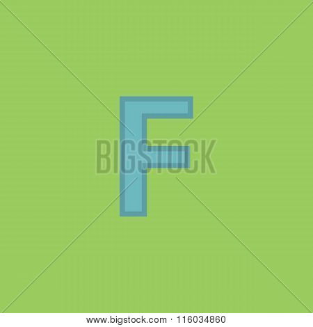Letter F vector flat icon