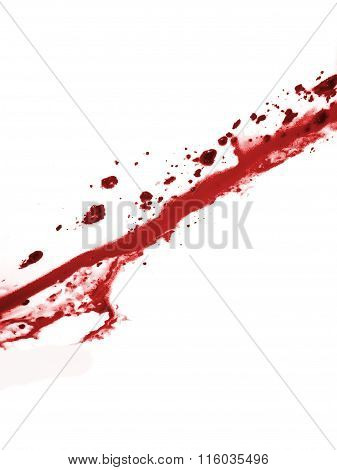 Scatter Red Liquid Isolated In White Background
