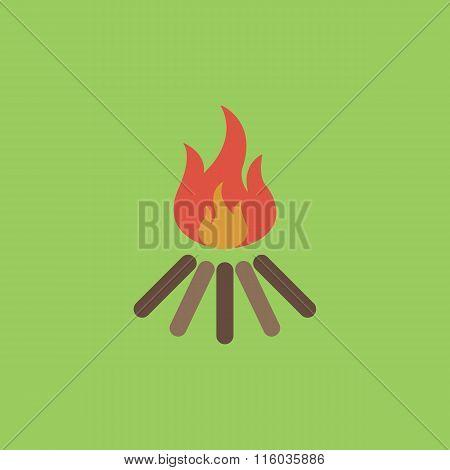 bonfire vector icon