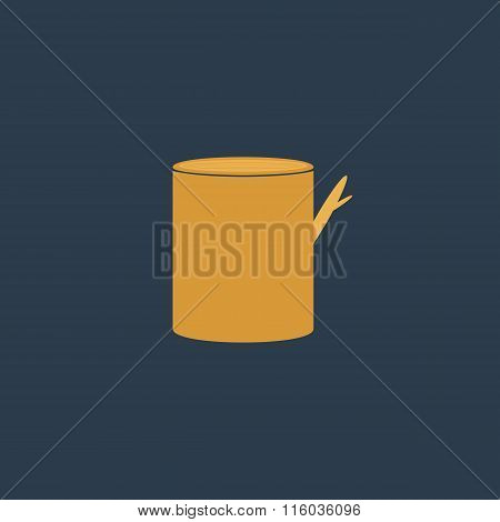 Tree stump, vector icon