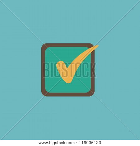 Check list button mark in box sign.