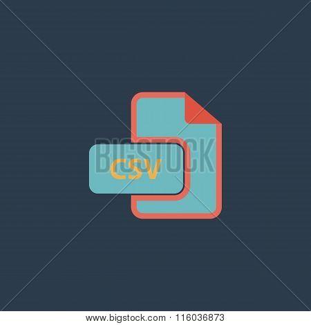 CSV extension text file type icon