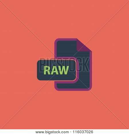 RAW image file extension icon.