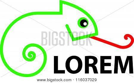 Logo - Line art - Chameleon