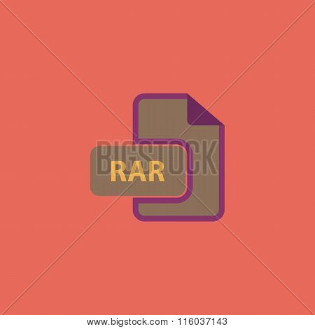 RAR file format icon vector.