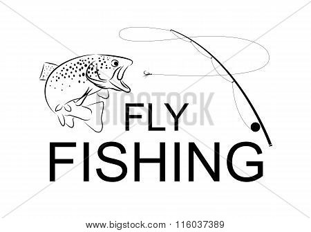 fly fishing, vector