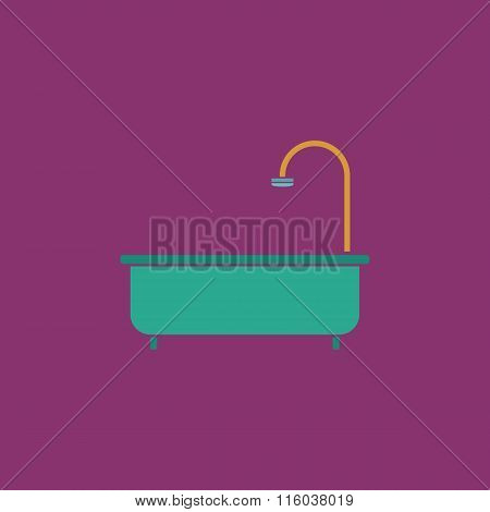 Bathtub flat icon