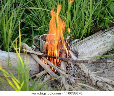 Cup Of Tea On A Bonfire.