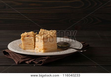 Pieces Of Cake Napoleon Closeup