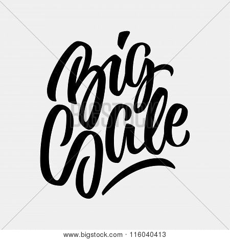 Black Big Sale Calligraphy Lettering Badge