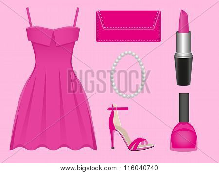 Evening Dress Pink