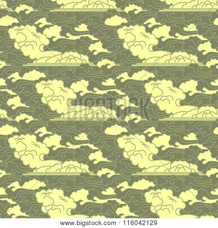 seamless cloud traditional japanese patterns