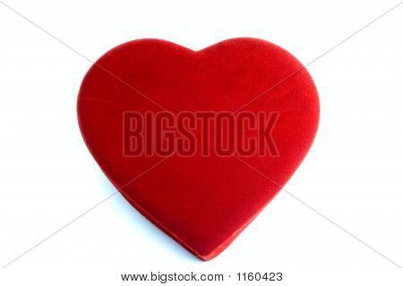 Plain Red Velvet Heart Box