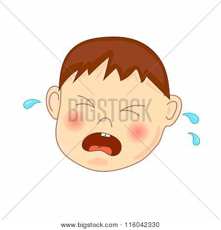 Crying baby, vector illustration
