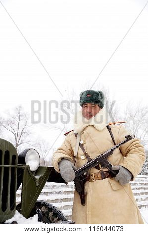 Defender Of Stalingrad In A Winter Form